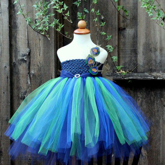 Peacock Halloween Costume Tutu Dress