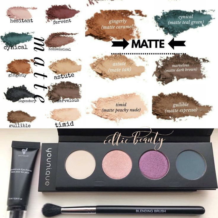 NEW Moodstruck Pressed Shadows from Younique! Here are the Mattes...
