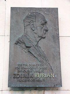 Zdeněk Burian - pamětní deska v Kopřivnici