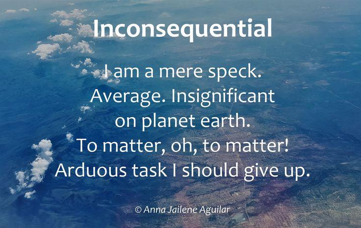 Inconsequential – Anna Jailene Aguilar