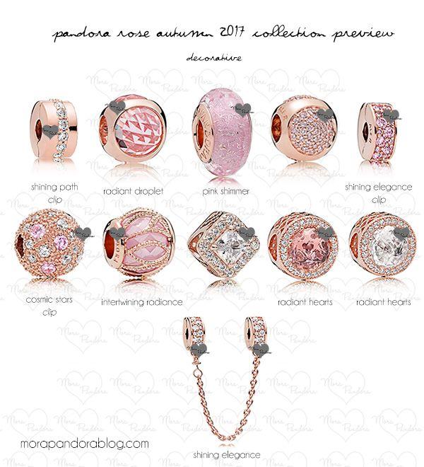 pandora rose autumn 2017 decorative charms