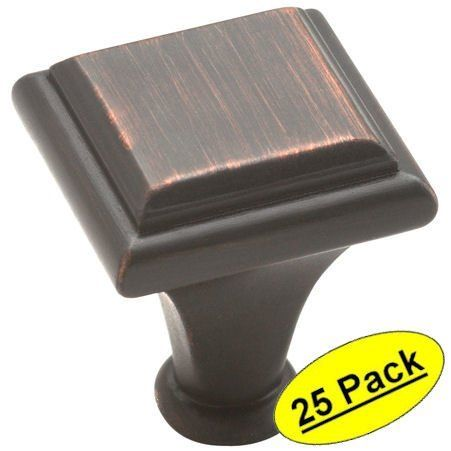 Beautiful Square Oil Rubbed Bronze Cabinet Knobs