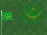 Mauritania Flag PowerPoint Templates and Backgrounds   Free Green PowerPoint Templates.