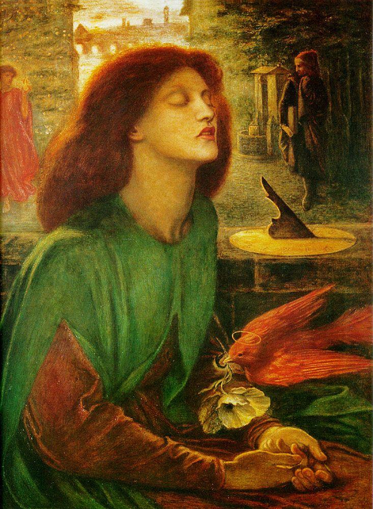 Dante Gabriel Rossetti; Beata Beatrix, 1872, olio su tela, Tate Modern Gallery Londra