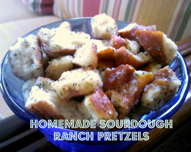sourdough ranch pretzels
