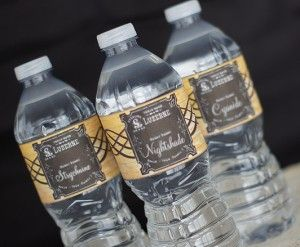 Free Printable Poison Water Bottle Labels- great for a Halloween Party!