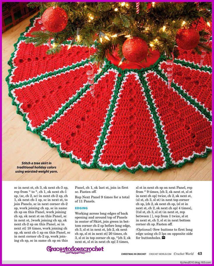 Tree Skirt! *** Falda para adornar el árbol de Navidad!