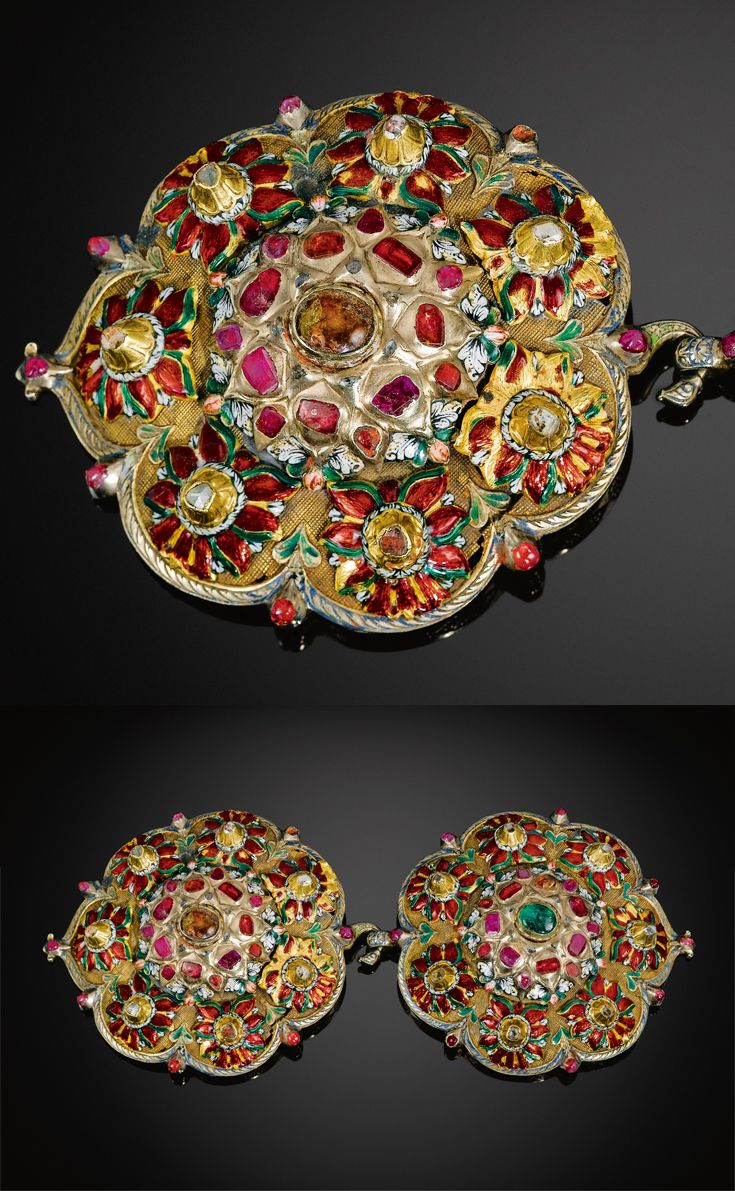 Turkey | Ottoman enamelled and gemset buckle | ca. 1700 | 30'000£ ~ sold (Apr '11)