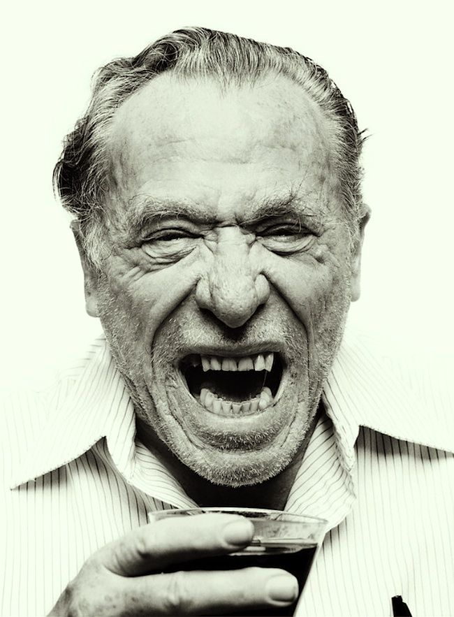 Charles Bukowski, c.1981, photo by Mark Hanauer
