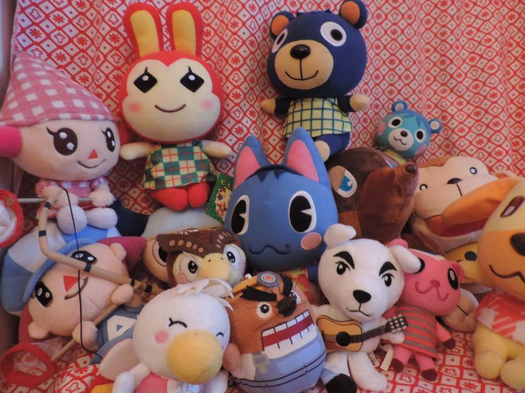 Animal crossing plush. 2001-2007 Animal crossing Wild World, City Folks, Wild World