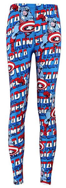 Women's Captain America Words Leggings