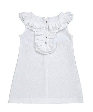 A Line Pique Dress  Elegant #Dresses for #Stylish Little #Girls
