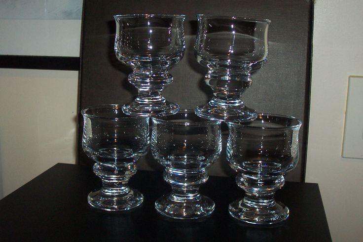 """1970s Holmegaard """" Tivoli'' claret glasses...signed HG7"""
