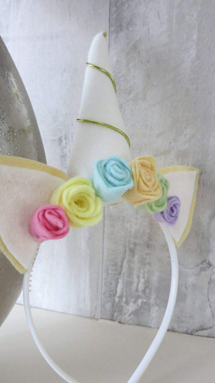 Unicorn pastel rainbow felt hairband. Unicorn fancy dress headband.A personal favourite from my Etsy shop https://www.etsy.com/uk/listing/551300392/unicorn-headband-unicorn-party-hairband