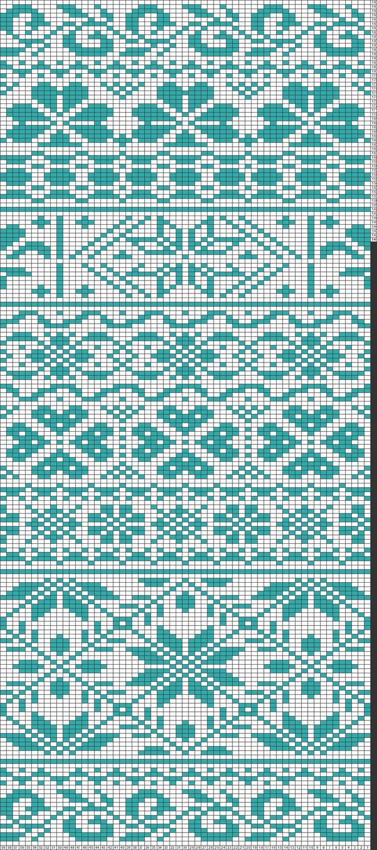 Tricksy Knitter Charts: Fair isle scarf by htnguyen0219