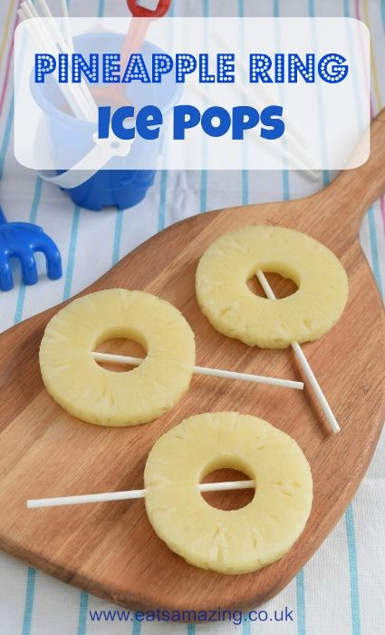 Pineapple Frozen Ice Pops - fun and healthy ice pop alternative for the kids this summer from Eats Amazing UK with video tutorial  - clean eating summer snack idea