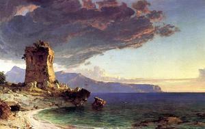 L île de Capri - (Jasper Francis Cropsey)