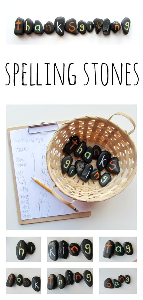 Spelling Stones - how many words can you spell ... ?
