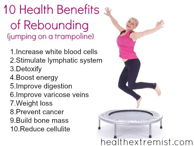 10 Health Benefits of Rebounding (jumping on a trampoline)