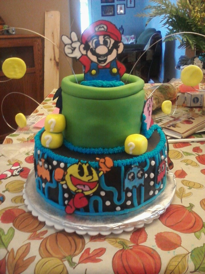 Old school video games grooms cake, this was a blast!