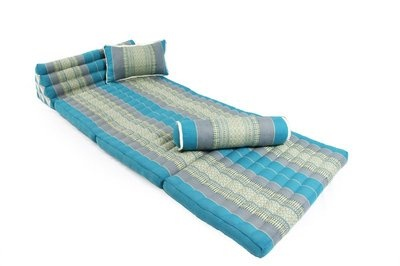 Traditional Thai triangle daybed mattress - Kapok Blue