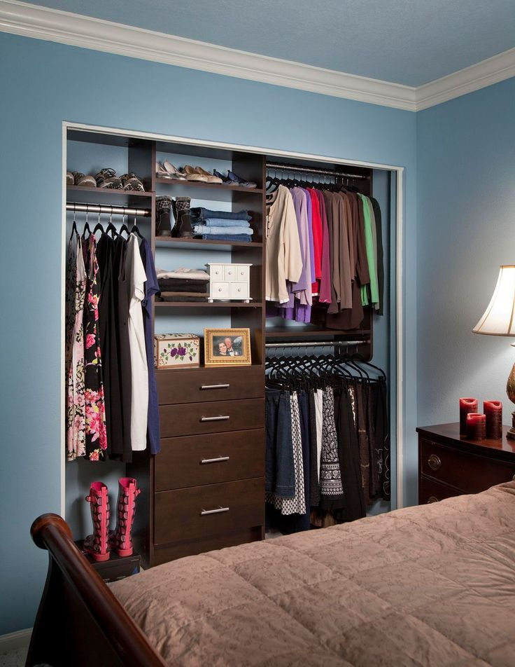 Reach in custom closet system | Small closet design ...