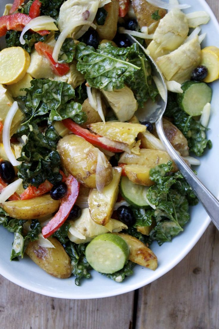 zucchini salad kale salads farmers market potato salad vegetarian ...