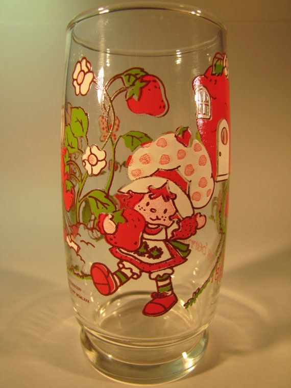 Strawberry Shortcake 80s love :)  Strawberry Shortcake glass from 1980 Its the berries