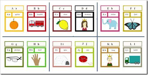 Alfabetet med bilder -Förskoleburken
