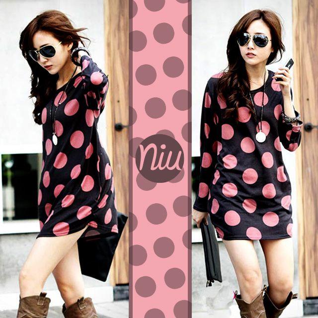 Blusón retro con pepas rosadas, encuentra esto y mucho más en: www.niuenlinea.co