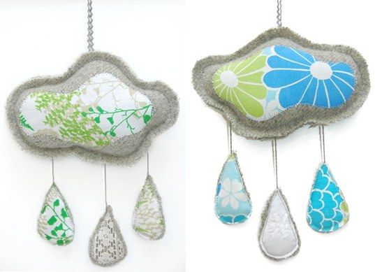 Cloud mobile: Etsy Ideas, Eco Mobiles, Rain Cloud Baby Mobiles Jpg, Rain Mobiles, Green Frogs, Easy Cloud, Handmade Cloud, Sewing Ideas, Cloud Mobiles