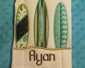 Surf Board Burp Cloth / Esty she does any design and any theme and all are amazing and gorgeous!! - this is mine!!