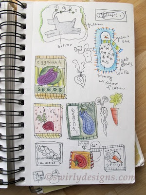 Keep a handy Doodle or sketch book for easy access to creative ideas! Swirly Designs