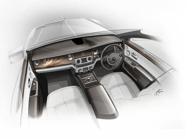 Rolls royce bespoke collection interior design sketch - Car interior design ...