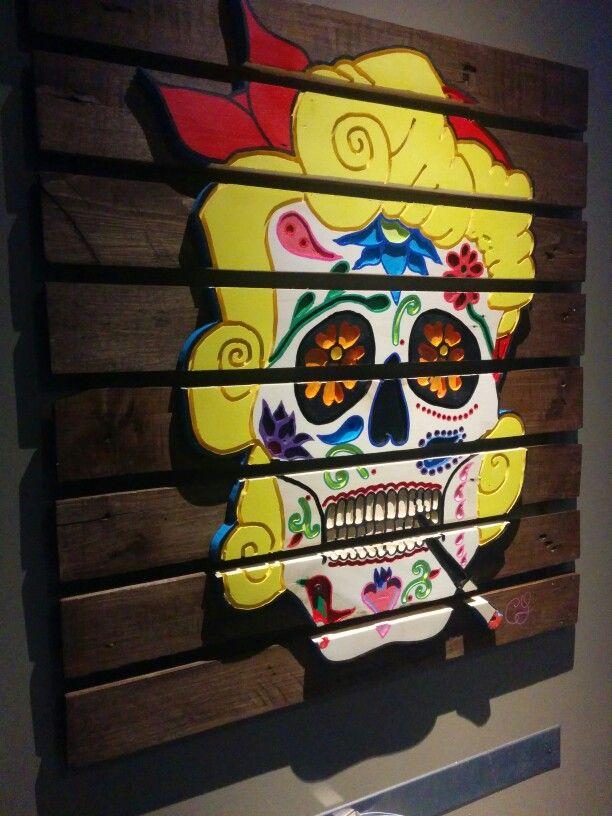 tableau bois cr ne mexicain la divine su doise. Black Bedroom Furniture Sets. Home Design Ideas