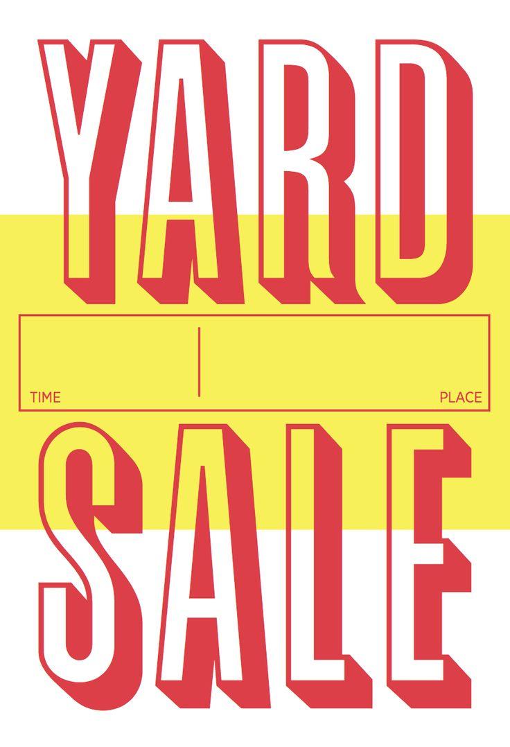 Yard Sale poster | ART & CREATIVITY | Pinterest