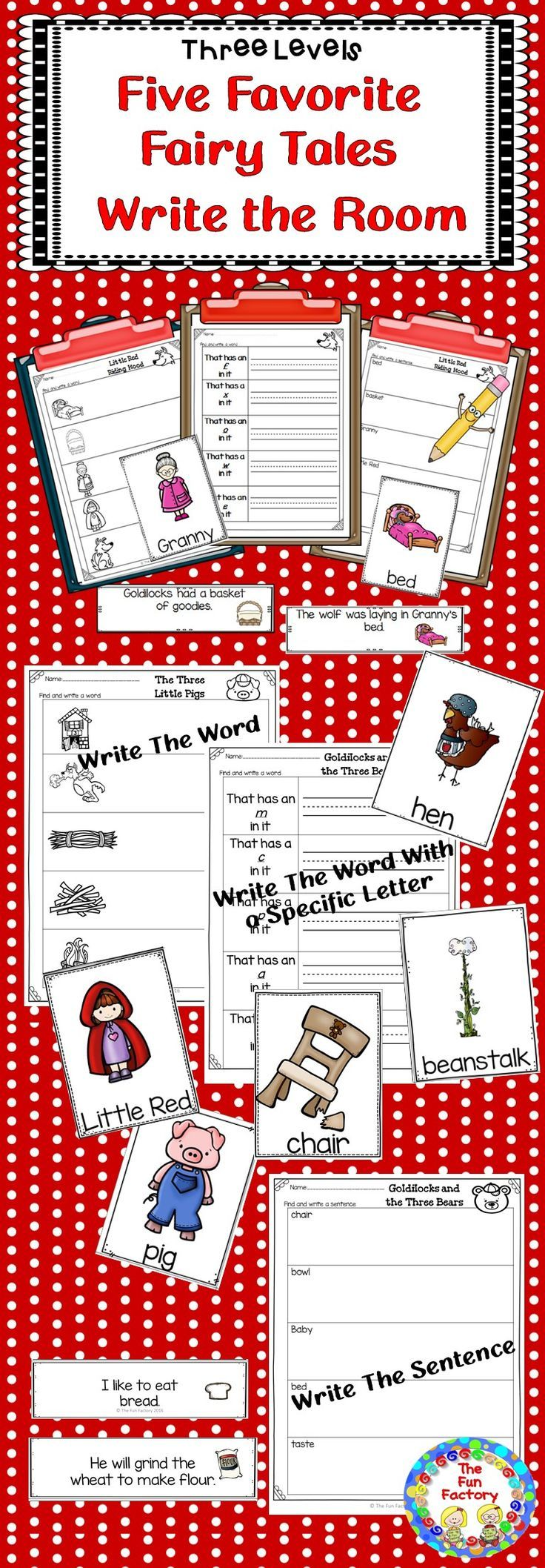 You can differentiate this Write the Room activity by using the 3 levels of recording sheets included.