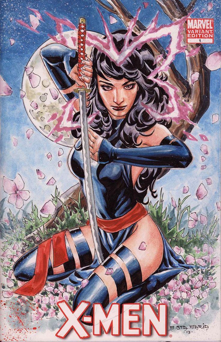 Marvel Psylocke Art 653 best images about ...