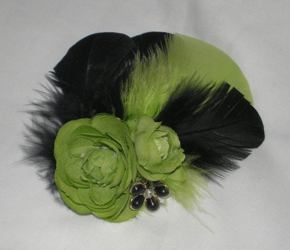 Feathered Hair Fascinator Bridal Hair by BittysJewelryAndMore