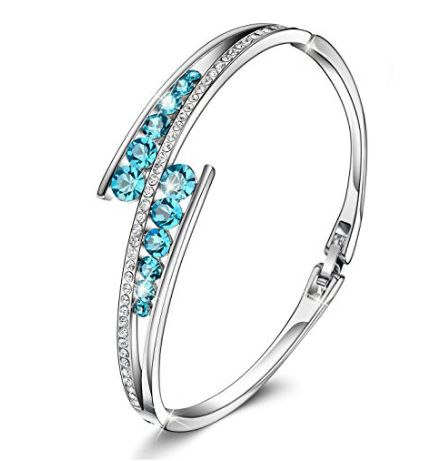 Brilla Mothers Day Gifts for Women Bracelet Gold Rose Swarovski Crystal Elements NJ7DZ574