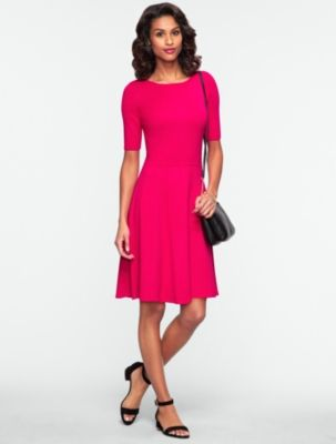 Talbots elbow sleeve fit and flare sweater dress for Talbots dresses for weddings