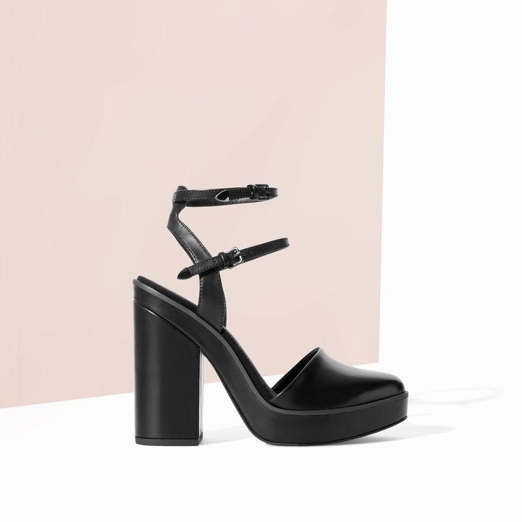 SLING BACK HIGH HEEL PLATFORM SANDAL - Shoes - TRF - SALE | ZARA Canada Ref. 3613/301 99.90 CAD UPPER 100% POLYURETHANE LINING 100% POLYURETHANE SOLE 100% VULCANIZED RUBBER