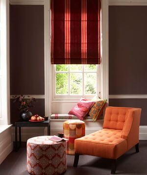 Orange plays well with neutrals, of course, but it also matches well with bright pink (shown here) or turquoise.