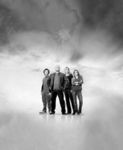 No Ordinary Family Poster Standup 4inx6in black and white