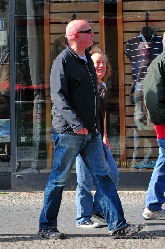 Angus Young (ACDC) was spotted while walking around with ...