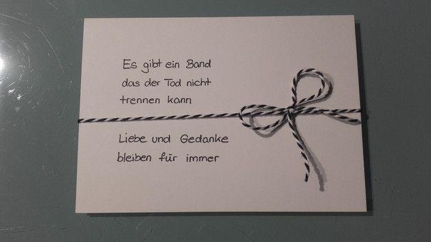 Trauer & Beileid - Trauerkarte - ein Designerstück von Karten-Werke bei DaWanda