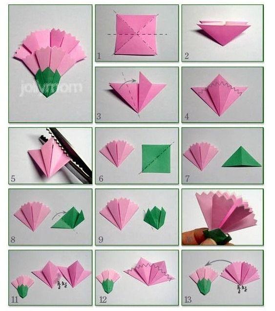 5월 가정의달이 다가옵니다! 카네이션 매번 길거에서 구입하셨다면 한번 직접 만들어 보는건 어떨가요^^ 정성이 깆든 종이접기 카네이션 만들기~ 생각보다 어렵지 않습니다.^^ 예쁜 종이접기 카네이션 ^^ 카네이션 만들기 어렵지 않으니 직접만든 카네이션으로 마음을 포현하세요. 꽃잎, 꽃받침 접는방법