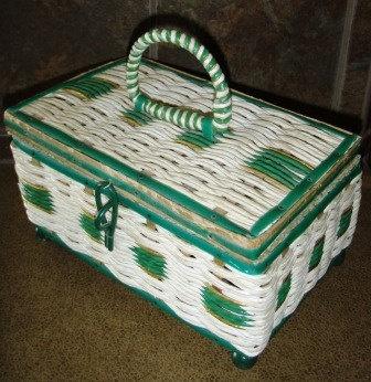 vintage sewing  sweet VINTAGE SEWING MUSICAL basket by WritersCraftToo, $25.00