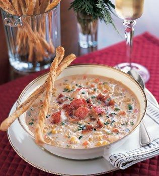 Corn and Lobster Chowder (uses leftover lobster)