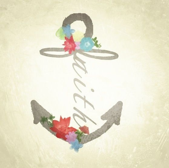 "I want this but instead of faith I want it to say family. I love it because it incorporates an infinity sign as the ""f"", and has family in it for my pap, and also the anchor itself to me means stability and strength. So no matter how bad things are, I will make it through! <3"